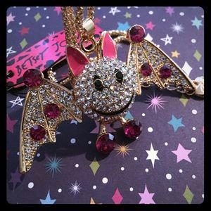 Betsey Johnson Adorable Bat Halloween Necklace